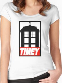 TIMEY Women's Fitted Scoop T-Shirt