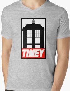 TIMEY Mens V-Neck T-Shirt