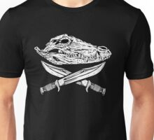 Croc Skull and Bowie Knives Unisex T-Shirt