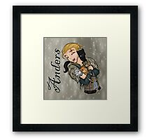 Anders with kittens Framed Print