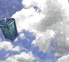 tardis in flight by chade153