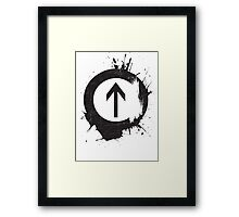 Above the Influence Framed Print