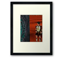 Rory waiting outside the pandorica Framed Print