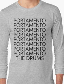 The Drums//Portamento  Long Sleeve T-Shirt