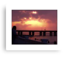 AWESOME SUNSET Canvas Print