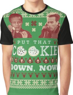 Put That Cookie Down, Now! Ugly Sweater Design Graphic T-Shirt