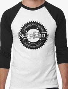 RetroJohn's classic retro logo with motto Men's Baseball ¾ T-Shirt