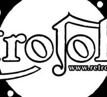 RetroJohn's classic retro logo with motto Sticker