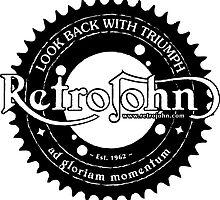 RetroJohn's classic retro logo with motto by retrojohn