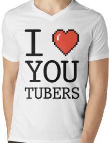 I LOVE OYUTUBERS Mens V-Neck T-Shirt