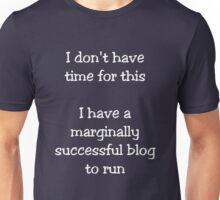 Marginally Successful Blogger (White) Unisex T-Shirt