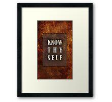 Know Thyself Framed Print