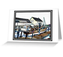 Boat Yard Greeting Card