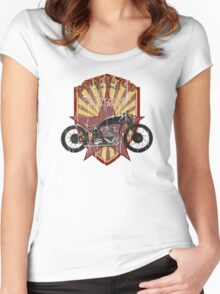 Bobber Job, motorcycle works Women's Fitted Scoop T-Shirt