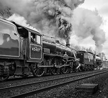 Black Fives Depart from Appleby Railway Station  by Jan Fialkowski