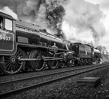 Black Fives Head South From Appleby Railway Station by Jan Fialkowski