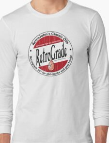 Retro Grade, classic motor oil Long Sleeve T-Shirt