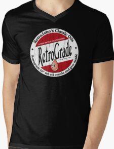 Retro Grade, classic motor oil Mens V-Neck T-Shirt