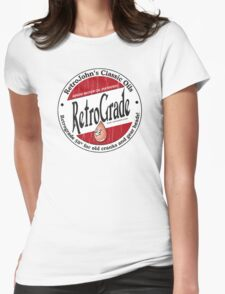 Retro Grade, classic motor oil Womens Fitted T-Shirt