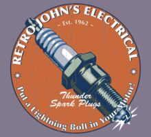 Retro John's Electrical auto and motorcycle spark plugs by retrojohn