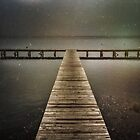 The Jetty in the Rain by Mitchell Harris