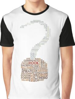 Captain Hook Once Upon A Time Typography Graphic T-Shirt