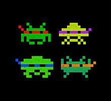 Super Space Ninja Invaders by tshirtbaba