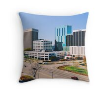 Downtown Norfolk, VA Skyline Throw Pillow