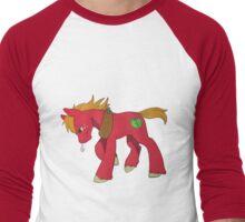 Red Apple Horse Men's Baseball ¾ T-Shirt