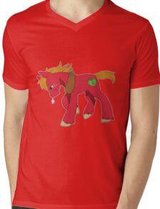 Red Apple Horse Mens V-Neck T-Shirt