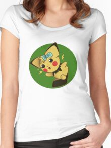 Blue Ribbon Pichu Women's Fitted Scoop T-Shirt