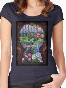 The Garden Behind the Door Women's Fitted Scoop T-Shirt
