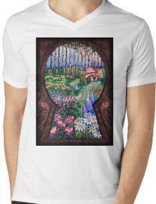 The Garden Behind the Door Mens V-Neck T-Shirt