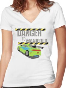 Danger To Manifold Women's Fitted V-Neck T-Shirt