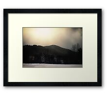 Base of the Mountain Framed Print