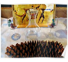 Pine Cone Still Life Poster