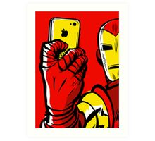 Stark #Selfie Art Print
