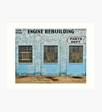 Engine Rebuilding Building Art Print