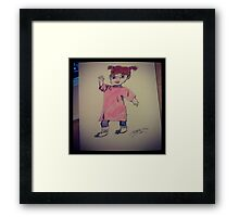 Boo! Monsters Inc Framed Print