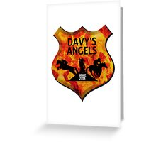 Davy's Angels Badge Greeting Card