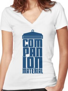 Companion Material Women's Fitted V-Neck T-Shirt