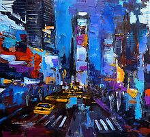 Saturday night in New York by Elise Palmigiani