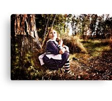 The Alice Series: There's a Grinning Cat Up There Canvas Print