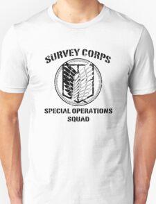 Survey Corps Black Unisex T-Shirt