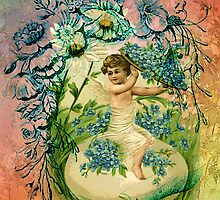 EASTER CHERUB BLESSINGS by Tammera