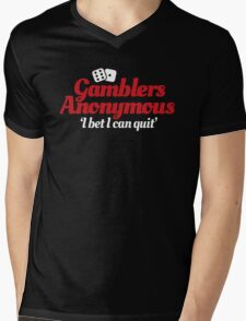 Gamblers anonymous - I bet I can quit Mens V-Neck T-Shirt