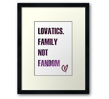 Lovatic Family Framed Print