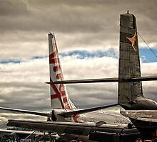 Rear Part of two Airplanes by Wolf Sverak