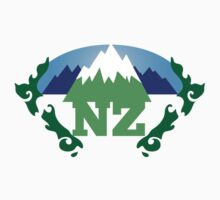 NEW ZEALAND map with NZ awesome design Kids Clothes