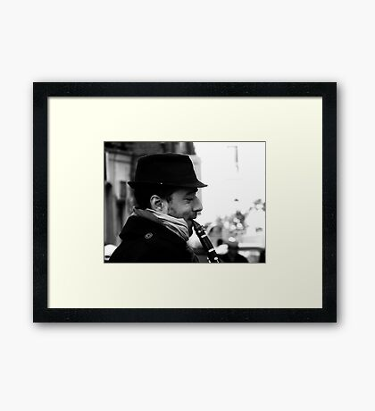 In Tune with Himself Framed Print